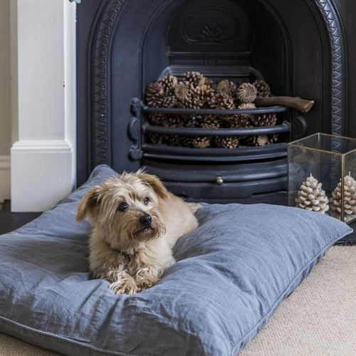 The Linen Works Dog Bed, Charcoal – £95.00.