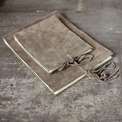Nkuku Suede Photo Album, Medium - £36.95.