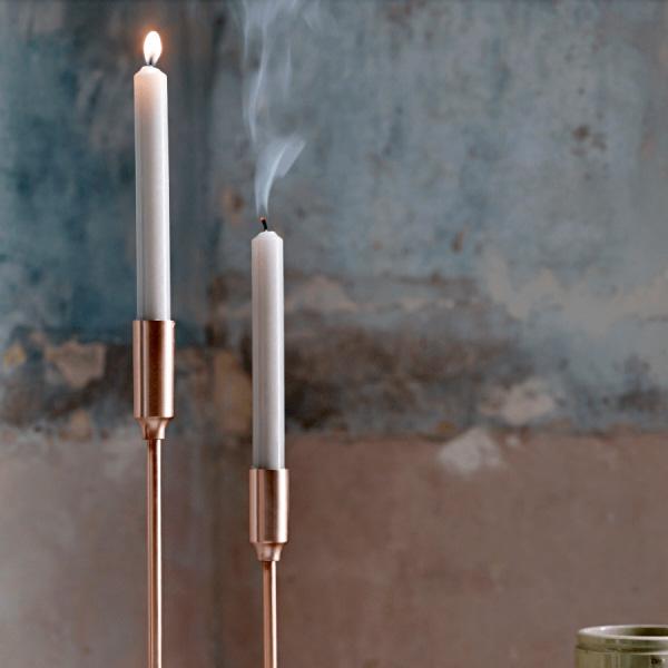 Brushed Copper Candlesticks
