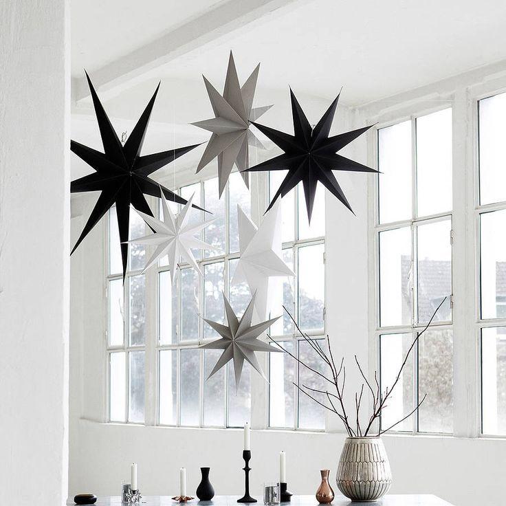 Black Cardboard Star