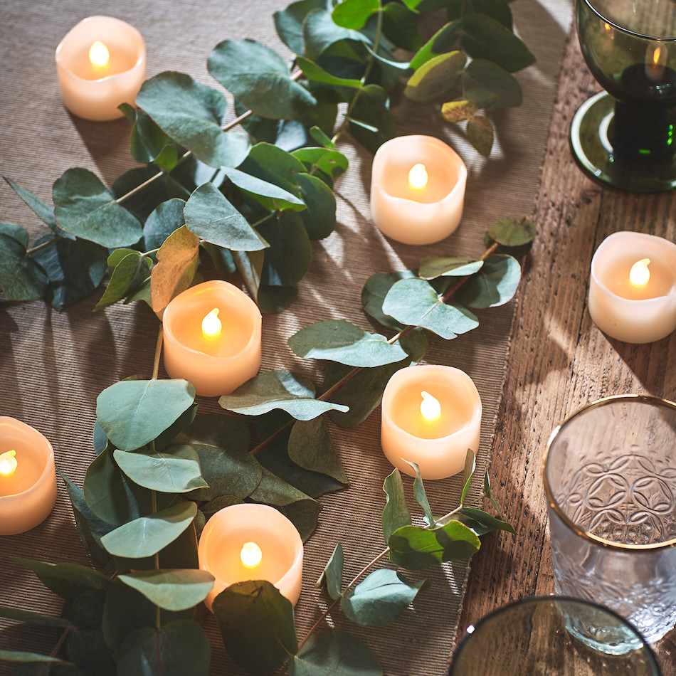Wax Votive Battery Candles