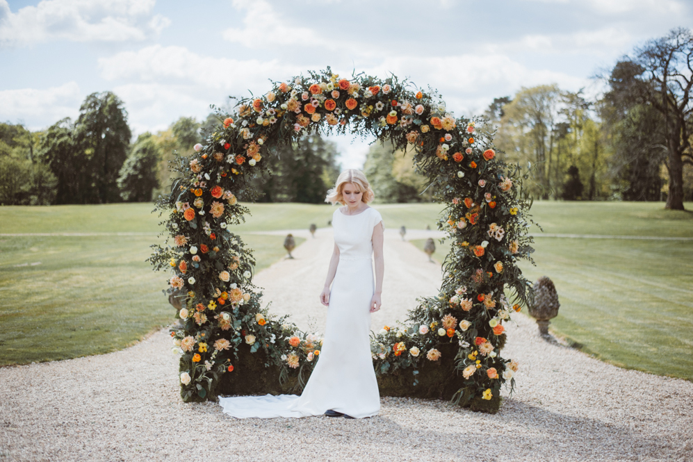 Image by Kitty Wheeler Shaw | Flowers by Ladybird Flowers | Dress by Cherry Williams London | Concept & Planning by Weddings by Jenna Hewitt.