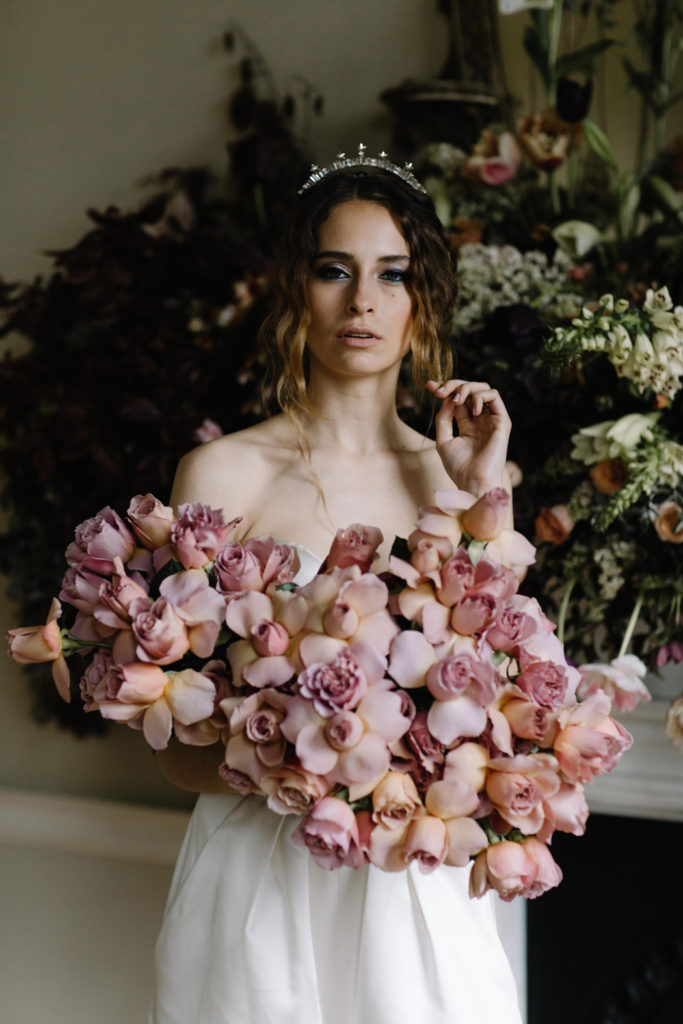 Image by Rebecca Goddard Photography | Bouquet by Jay Archer Floral Design | Venue Pynes House.