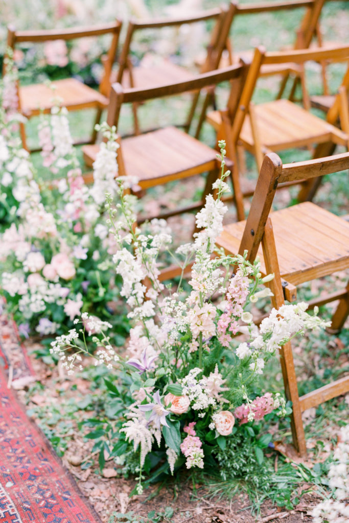 Image by Hannah Duffy Photography | Chairs by Hire Love | Flowers by Verity & Thyme.