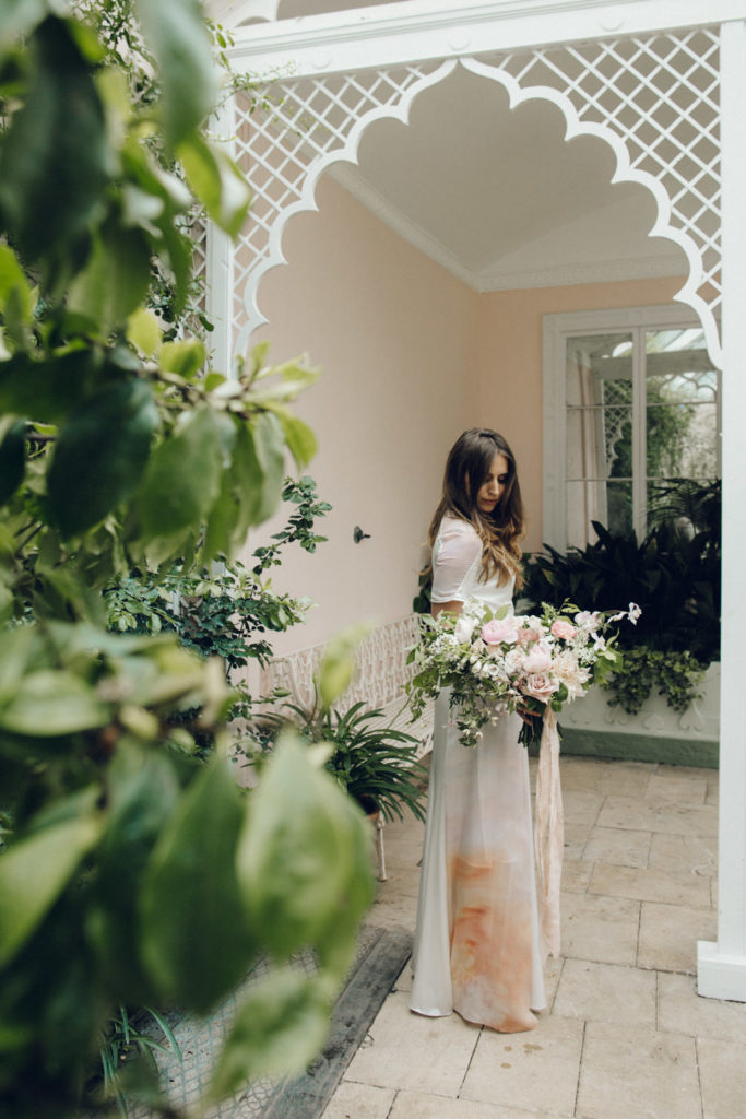 Image by Rebecca Goddard Photography | Planning by Liz Linkleter | Bouquet by Palais Flowers | Dress by Dana Dallal Bridal.