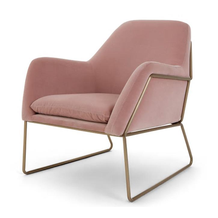 Blush Velvet Armchair