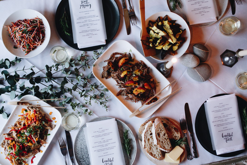 Honest, Local, Feast-Style Catering for Weddings - Beautiful & The Feast