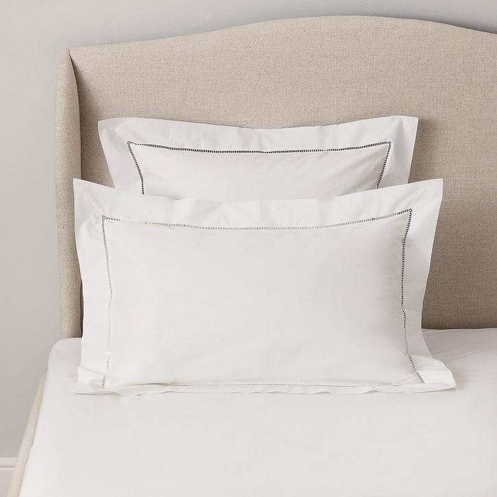 Santorini Oxford Pillowcase, Standard, White