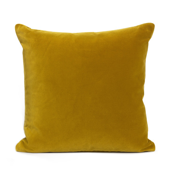 Monroe Square Cushion; Mustard