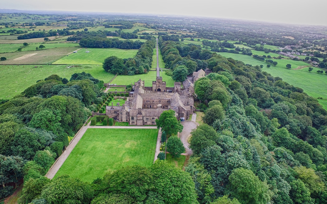 Coco wedding venues slideshow - exclusive-use-wedding-venue-in-lancashire-hoghton-tower-skytech-imagery-004
