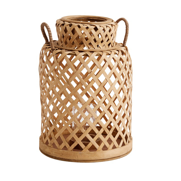 Bamboo Lantern With Handles - Small