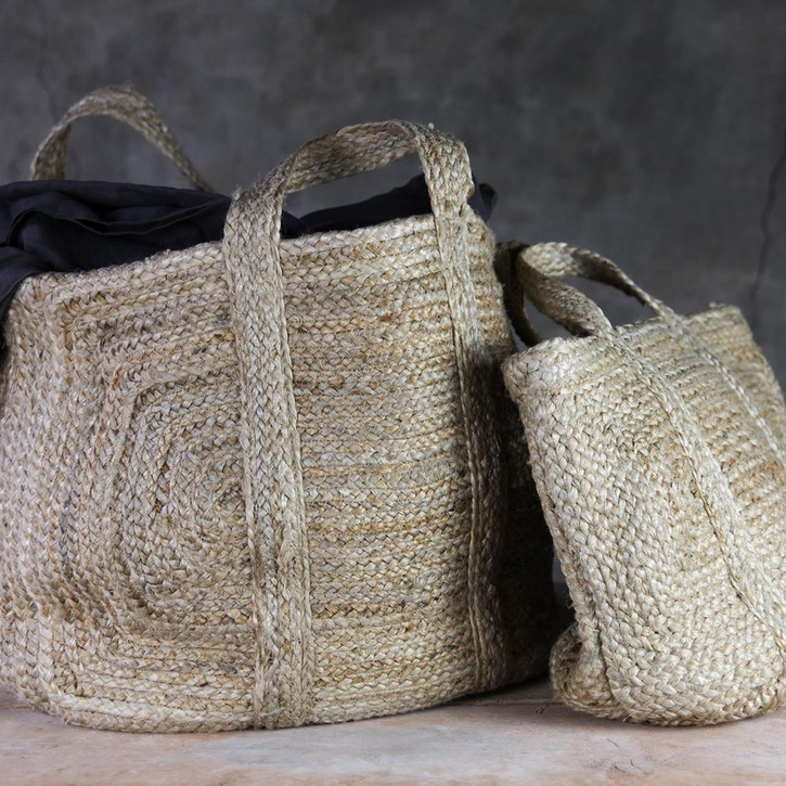 Braided Hemp Storage Basket - Small