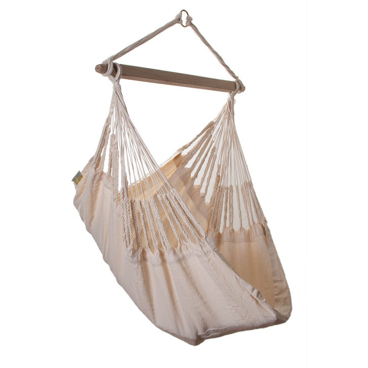 Knit Hanging Chair, Ecru, Small