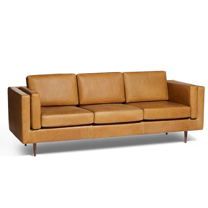 Stockholm 3 Seater Sofa, Portman Ash Leather