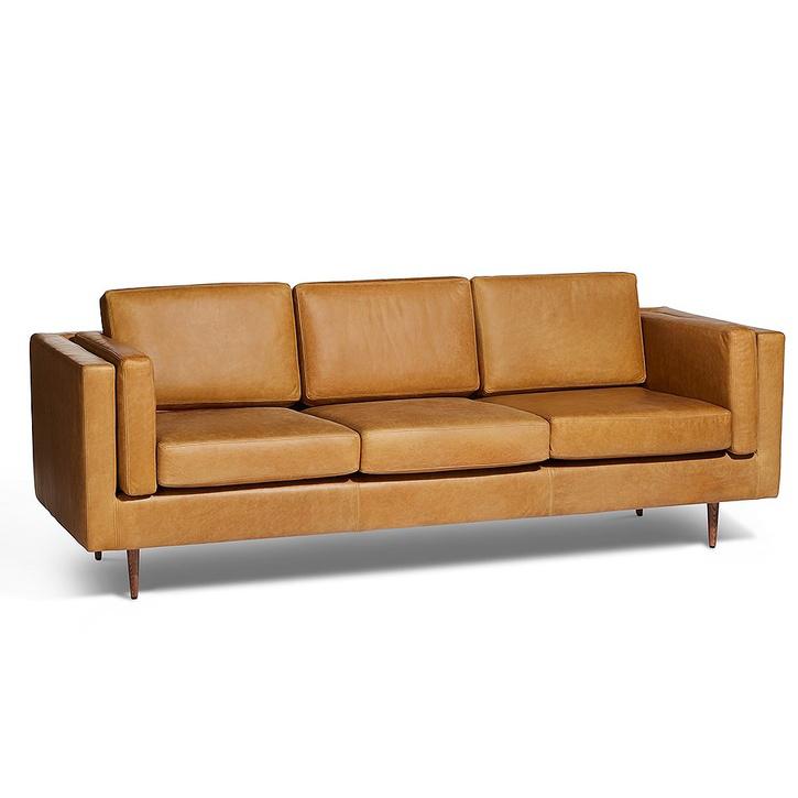 Stockholm 3 Seater Sofa, Portman Ash Leather