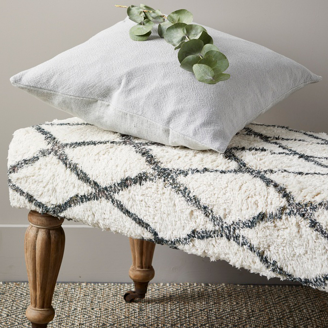 Modern Rustic Linen Heavy Cushion (Concrete)