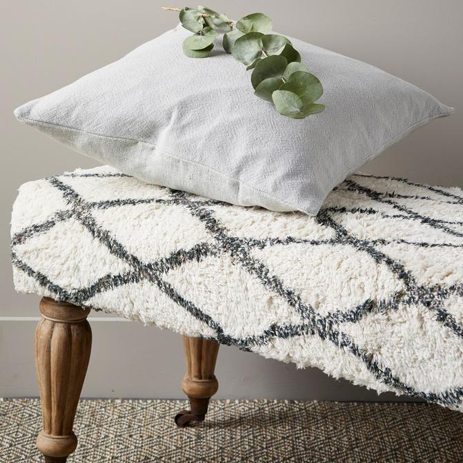 Modern Rustic Linen Heavy Cushion (Concrete)