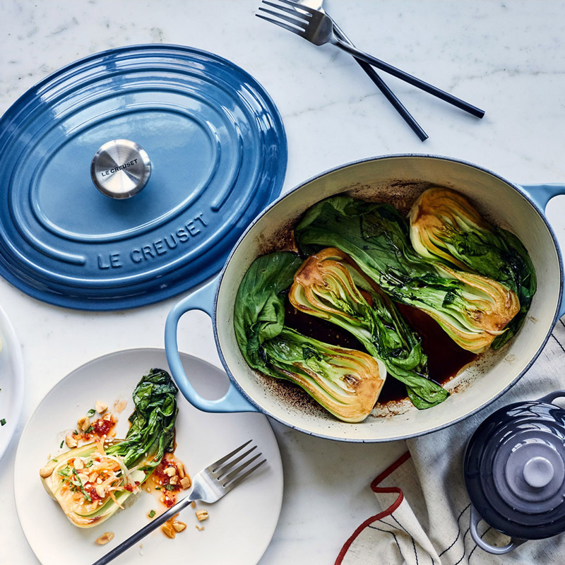 Cast Iron Oval Casserole, Marseille Blue