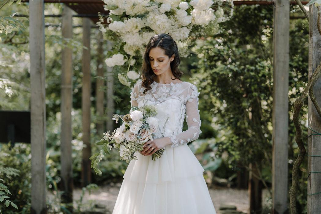 Botanical Wedding Inspiration in a London Secret Garden - Chelsea Physic Garden.