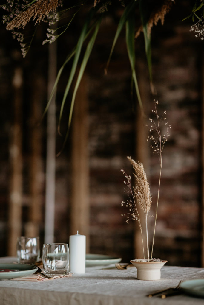 Image by Claire Fleck Photography at Civic House | Flowers by Feather Grass Florals.