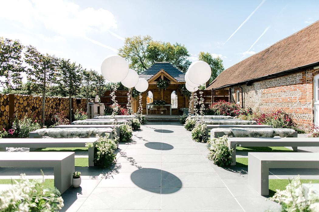 The Secret Garden at Southend Barns - Outdoor Ceremony Venue.