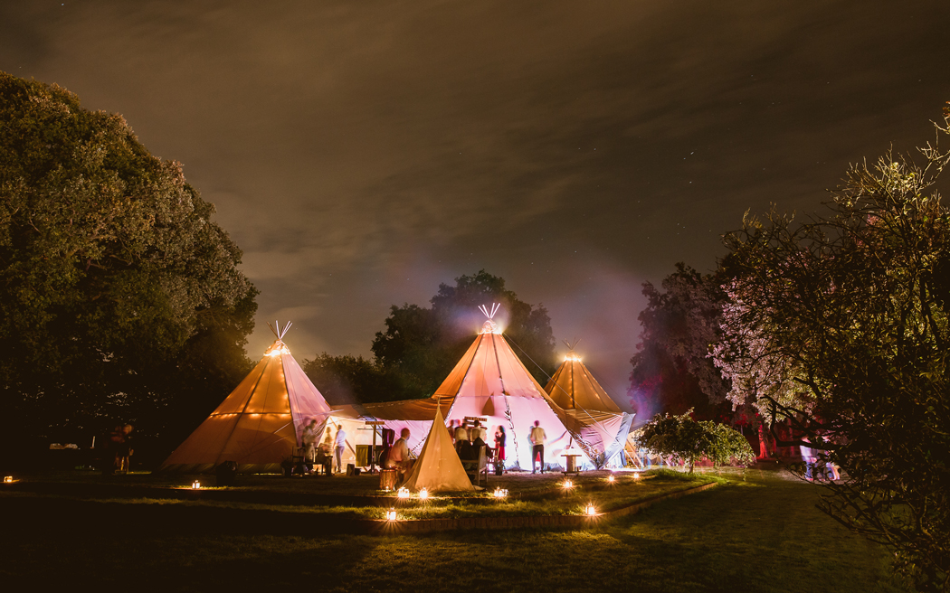 Coco wedding venues slideshow - Marquee and Tipi Wedding Site in Surrey - Blank Canvas Littlefield Manor