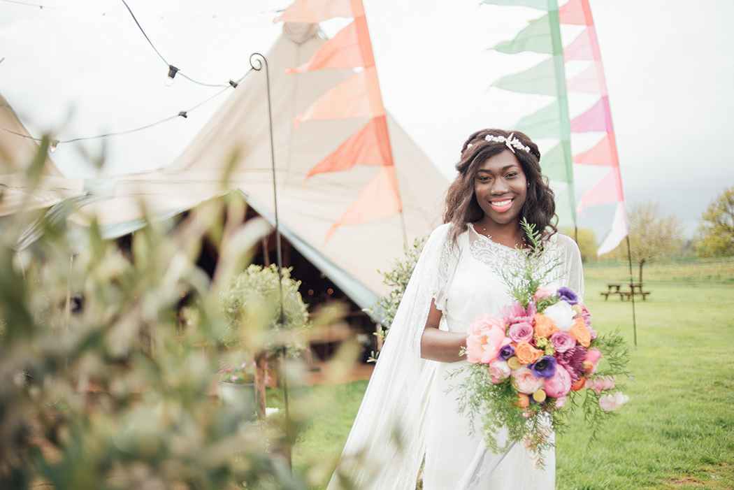 Tipi Wedding Inspiration - Spring Brights with World Inspired Tents