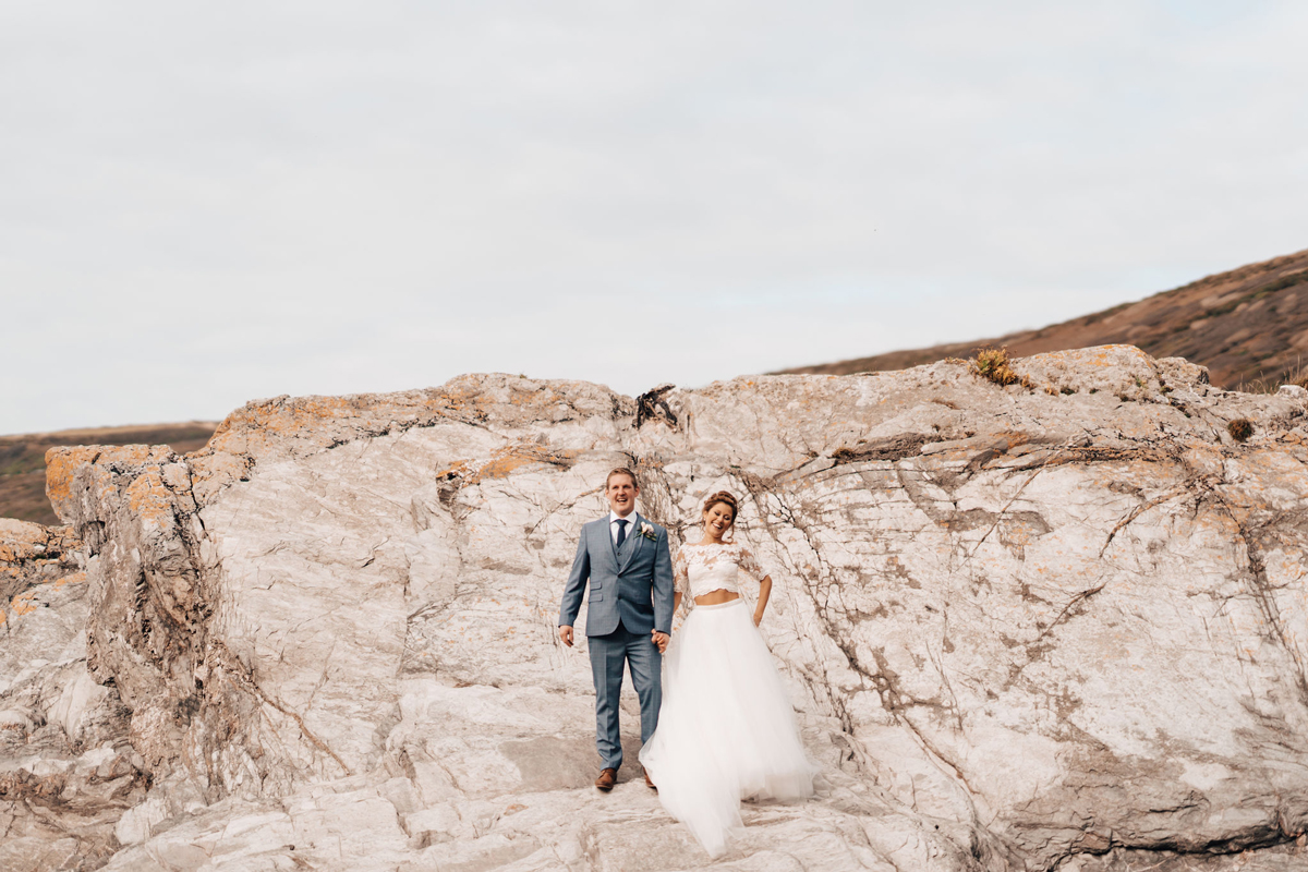 Beach Wedding Venue Cornwall - Ella & Jake's Polhawn Fort Wedding