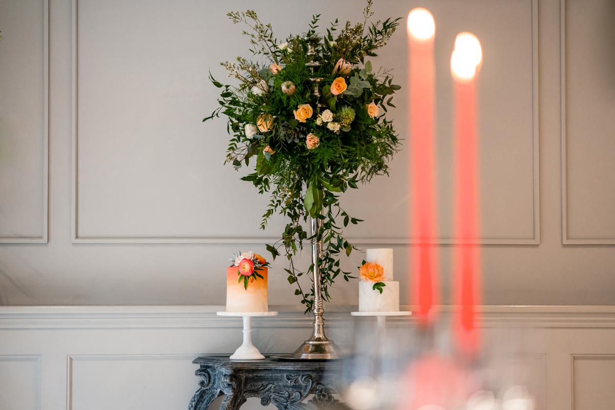 Coral Wedding Inspiration - Coral Elegance at Swanton Morley House