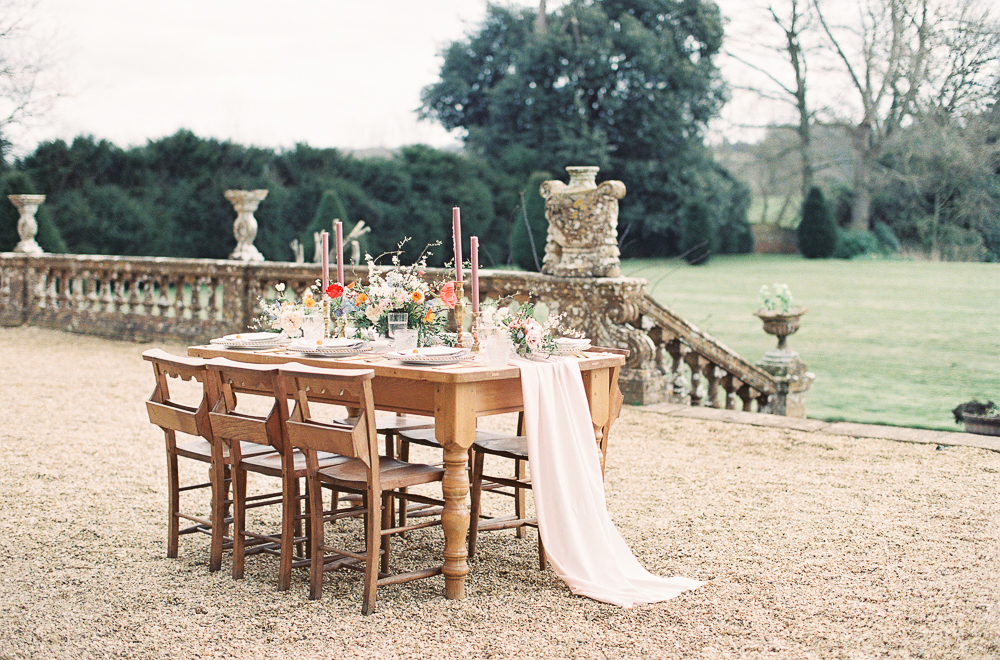 Chocolat Inspired Bridal Shoot at Brympton House in Somerset