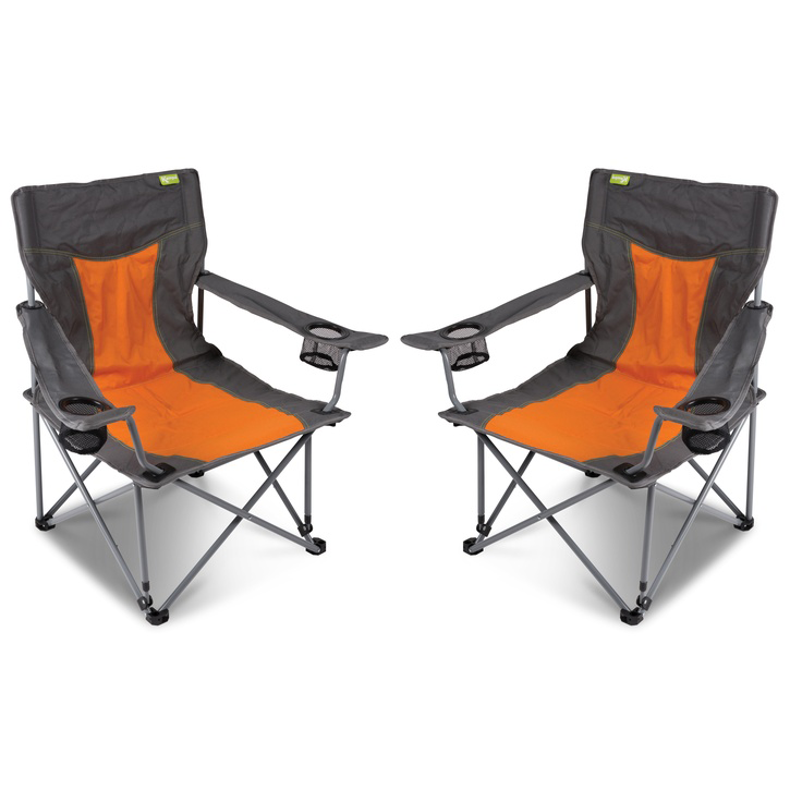 Cocktail Camping Chairs, Burnt Orange