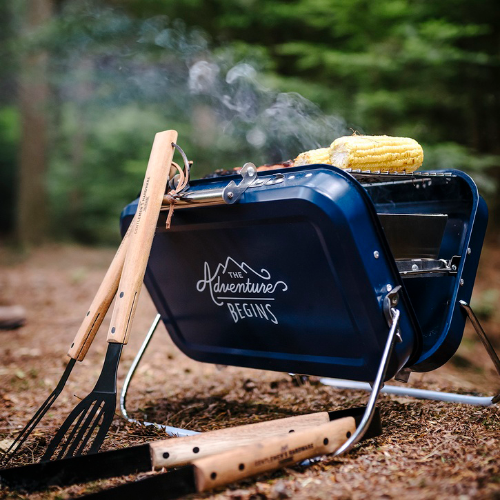 Adventure Begins Portable BBQ, Large, Navy