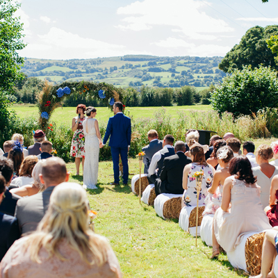 See more about Clawdd Offa Farm wedding venue in Flintshire, Wales
