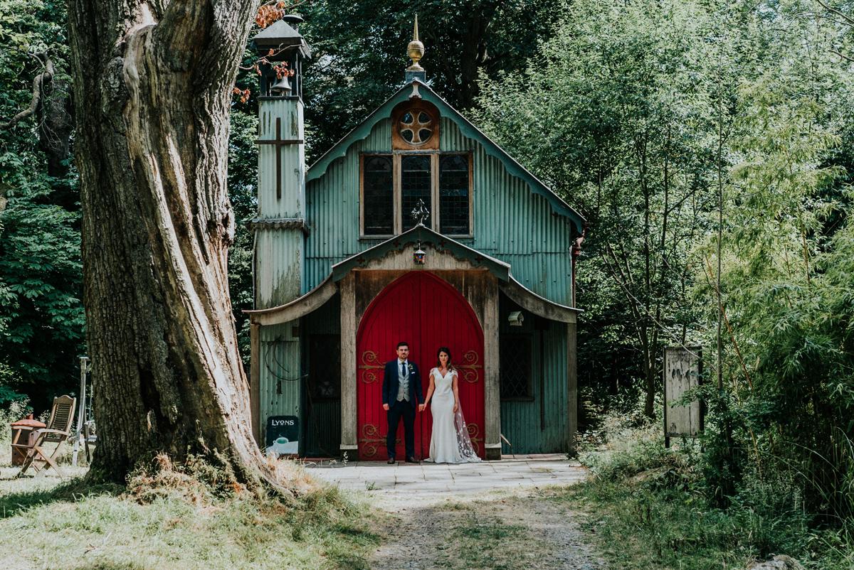 Alternative Wedding Venue - Tiffany & Liam's Walcot Hall Wedding