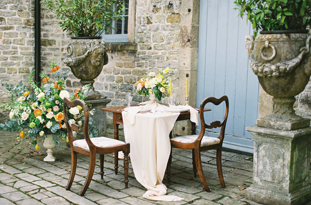Yellow & Gold Wedding Ideas - Pennard House in Somerset