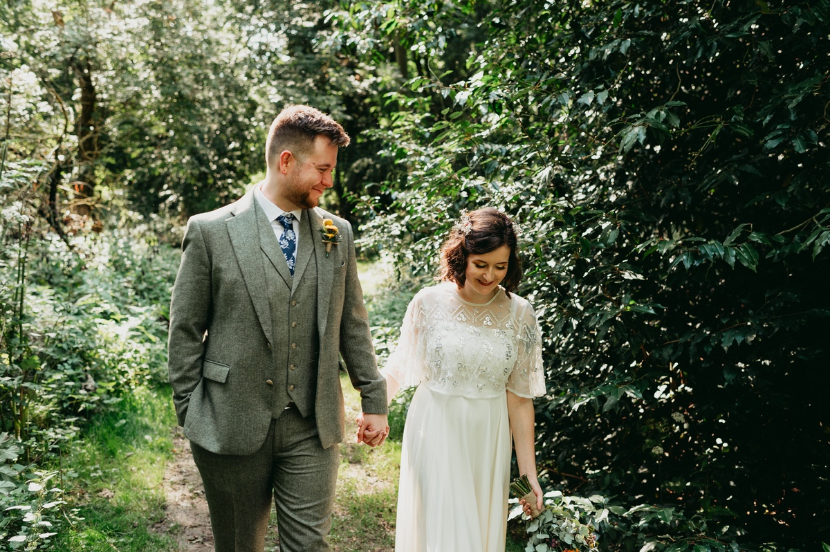 Bohemian Woodland Wedding with Rustic Décor at The Woodlands